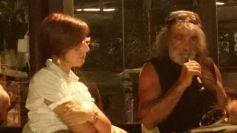 Intervisto Mauro Corona a Gavinana durante la presentazione del libro ERO DUNQUE SONO di Tiziana Morrone