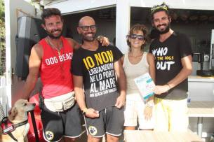 Alla Dog Beach di San Vincenzo, con Luca, Francesco e Alessandro