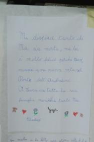 I pensieri per Mia dei bambini della scuola di Zerbolò - Pavia