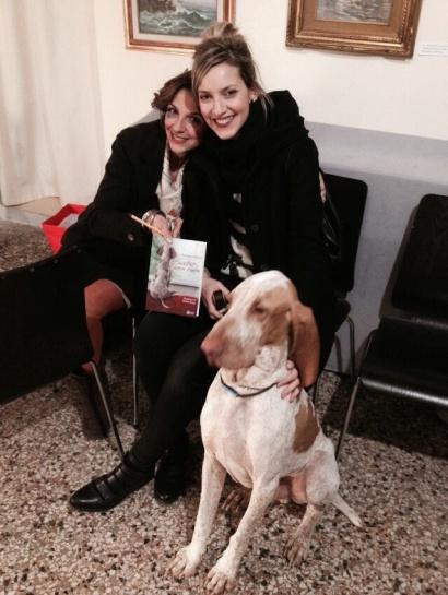 """Presentazione alla """"Fucina fotografica"""", con Daniela e Cirano"""