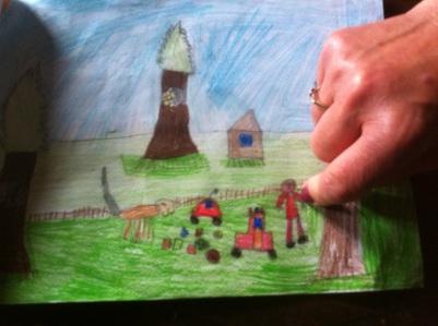 I lavori dei bimbi della scuola di Pian degli Ontani