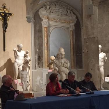 Presentazione di Commiati di Alberto Martini, alla Gispoteca (chiesa San Paolo all'Orto di Pisa) con Athos Bigongiali e Paolo Giommarelli